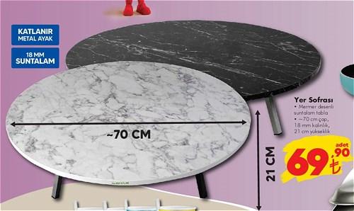 Yer Sofrası 70 çap 21 cm yükseklik image