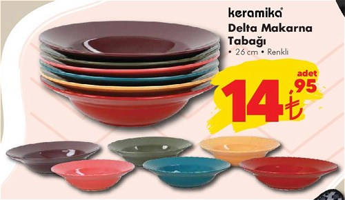 Keramika Delta Makarna Tabağı 26 cm image