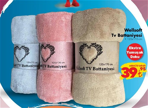 Wellsoft Tv Battaniyesi 120x170 cm image