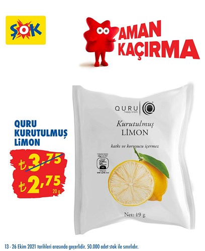 Quru Kurutulmuş Limon 20 g image