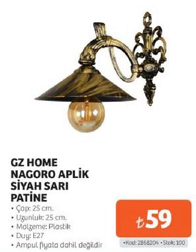 Gz Home Nagoro Aplik Siyah Sarı Patine image
