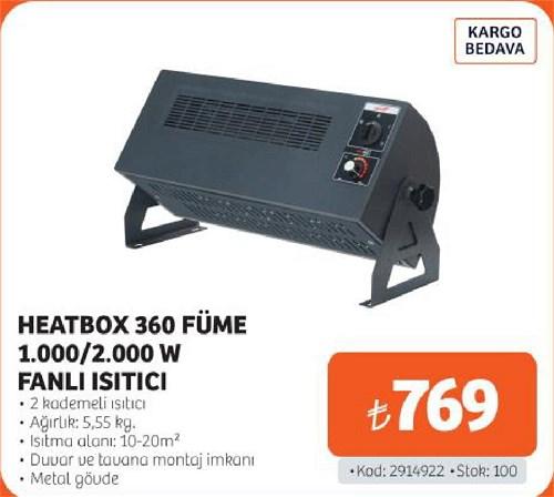 Heatbox 360 Füme 1000/2000 W Fanlı Isıtıcı image