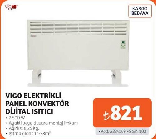 Vigo Elektrikli Panel Konvektör Dijital Isıtıcı 2500 W image