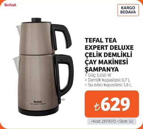 Tefal Tea Expert Deluxe Çelik Demlikli Çay Makinesi Şampanya 1650 W image