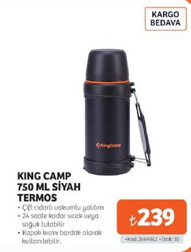 King Camp 750 ml Siyah Termos image