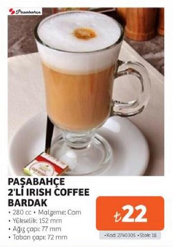 Paşabahçe 2'li Irısh Coffee Bardak 280 cc image