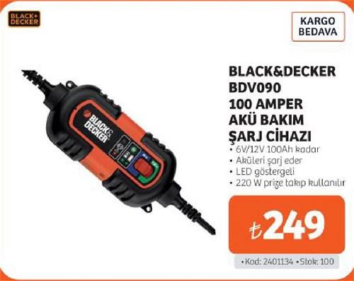 Black&Decker BDV090 100 Amper Akü Bakım Şarj Cihazı image