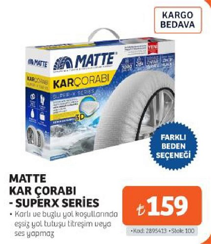 Matte Kar Çorabı-Superx Series image