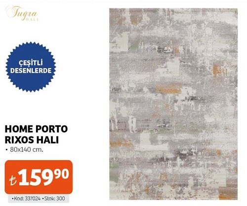 Tuğra Home Porto Rixos Halı 80x140 cm image