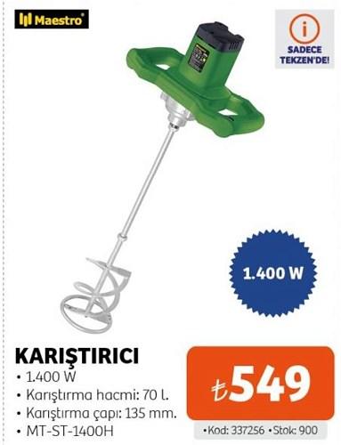 Maestro Karıştırıcı 1400 W MT-ST-1400H image