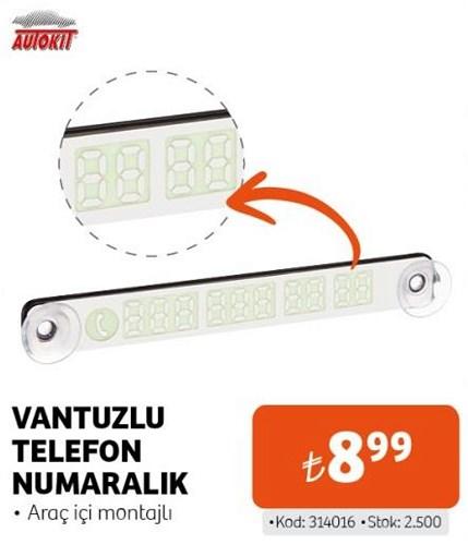 Autokit Vantuzlu Telefon Numaralık image