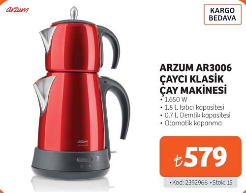 Arzum AR3006 Çaycı Klasik Çay Makinesi 1,650 W image