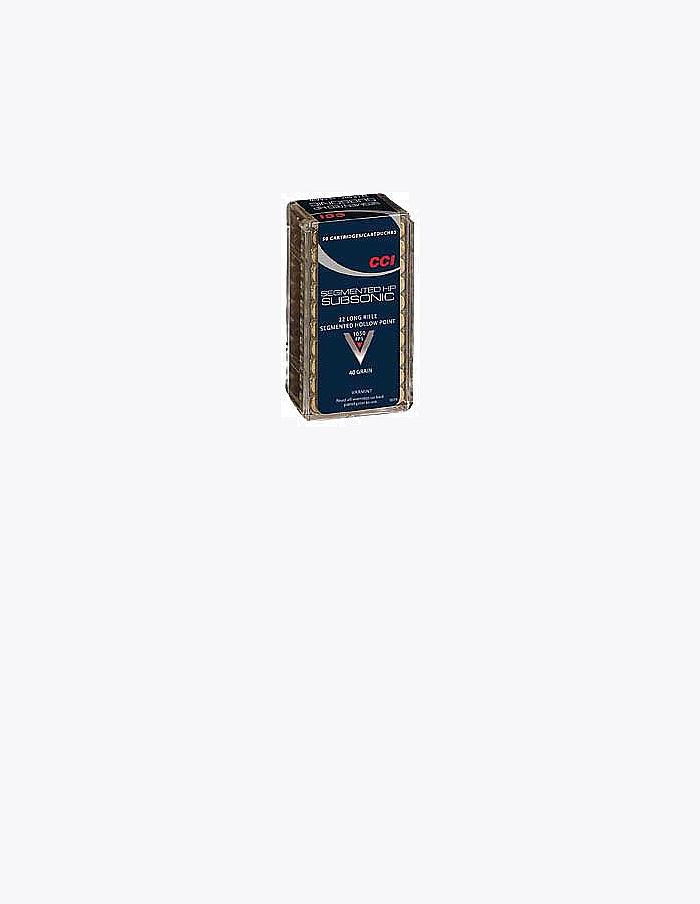 CCI/Speer Quik Shok Subsonic 22LR 40Gr Hollow Point 50 5000 74 (50 Rounds  Per Box)