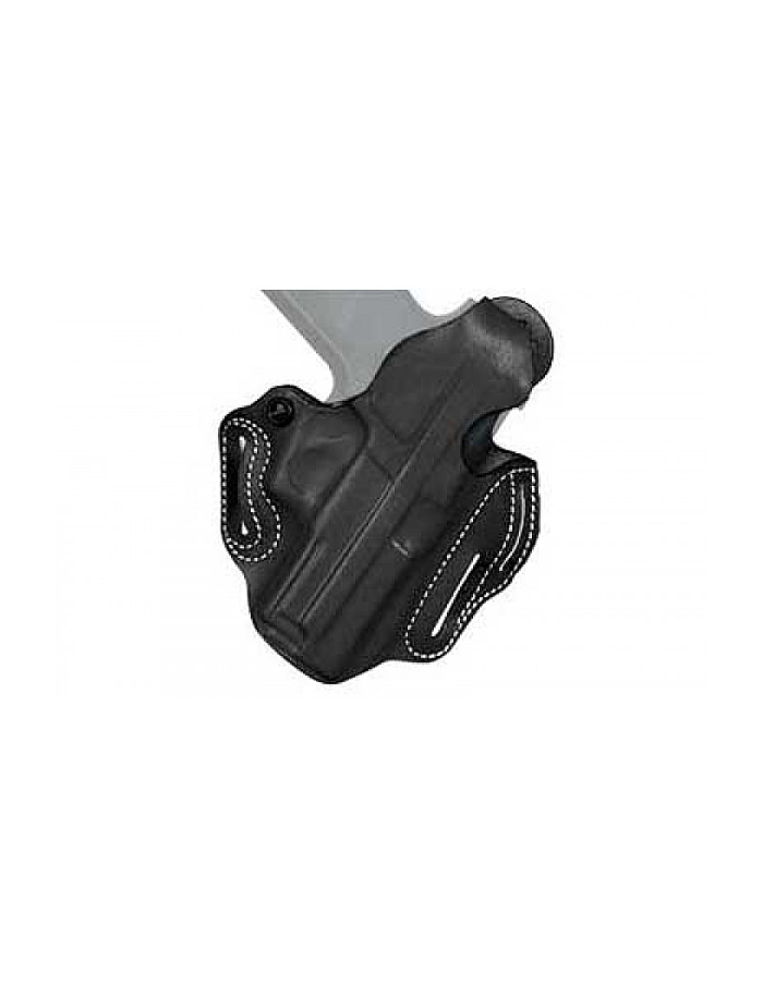 Desantis 001 Thumb Break Scabbard Belt Holster Right Hand Black Ruger LCR  001BAN3Z0