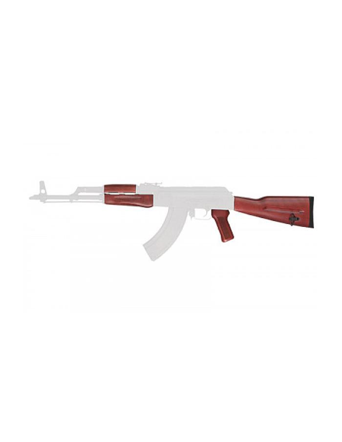 TimberSmith Premium Red Laminate Pistol Grip and HandGuard for Romanian  AK-47 TIM06000