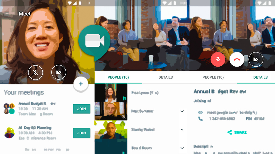 Meet Quality Tool in G Suite Being Used to View Data for Only Selected Call Participants