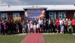 北部Tsagaannuur村での開通式典の様子