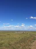 東部平野地域Khalkhgol村の風景