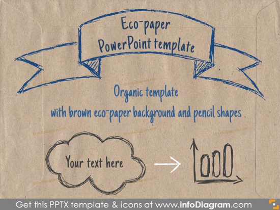 Brown Eco Paper PowerPoint Template PPTX
