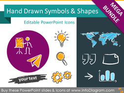 All Hand Drawn Icons and Diagram Shapes (PPT graphics Mega-Bundle)