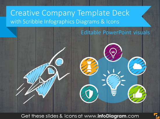 Creative Company Presentation Deck (Scribble PPTX Template)
