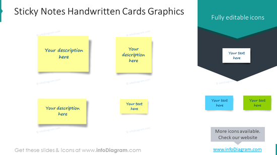 Sticky notes handwritten cards graphics