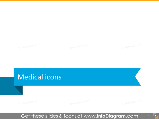 Medical icons set powerpoint clipart transition slide