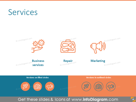 Services related icons set
