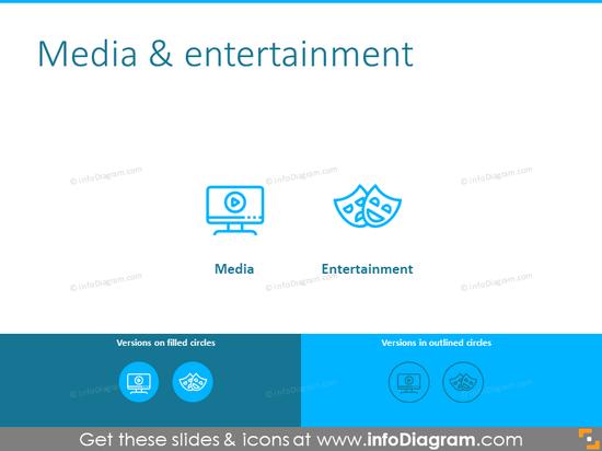 Media and entertainment symbols
