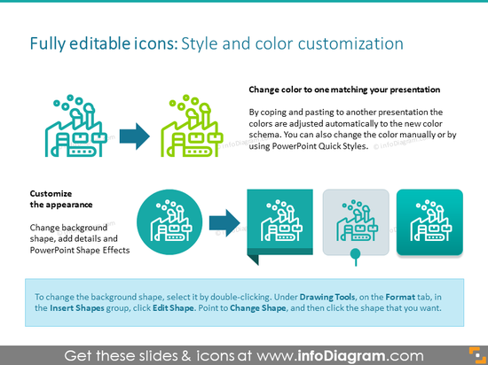 Example of the icons customization