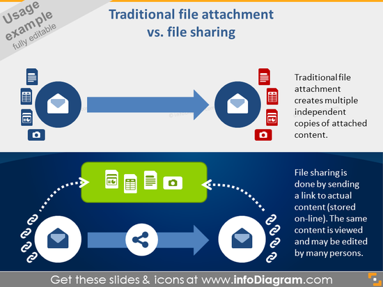 file sharing document type attachment icon powerpoint clipart