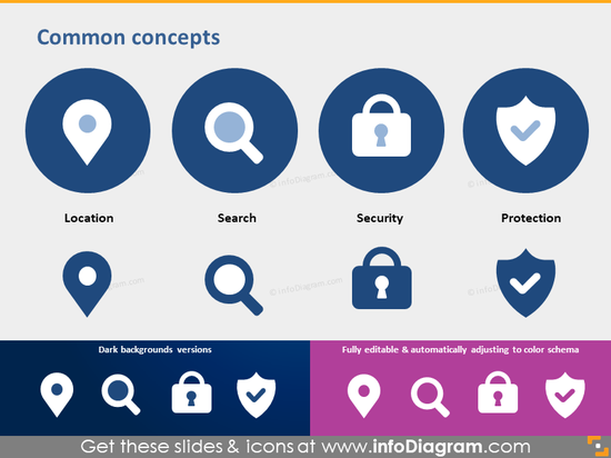 pictogram location search security protection icon powerpoint