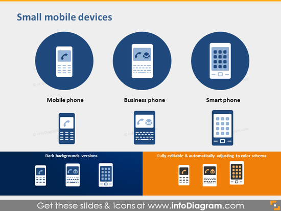 mobile phone smartphone icon PPT clipart