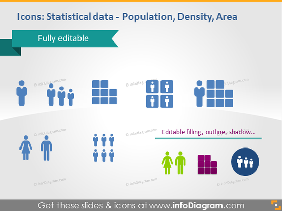 population density area statisitical data cliparts pptx