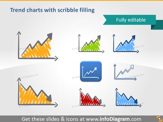 scribble circular process indicator symbols venn handwritten pictograms ic…