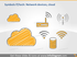 cloud network wifi database sketch doodle icons