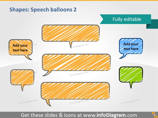 handwritten speech bubble scribble powerpoint