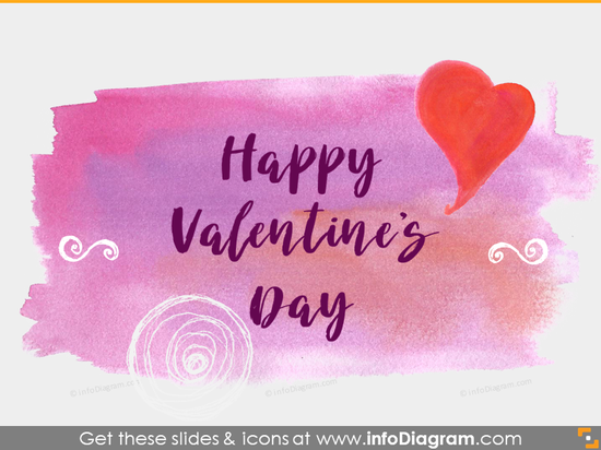Happy Valentines Day Hand drawn Banner PowerPoint icons