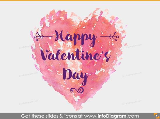 Handwritten Heart Valentine Icons Pencil PPTx