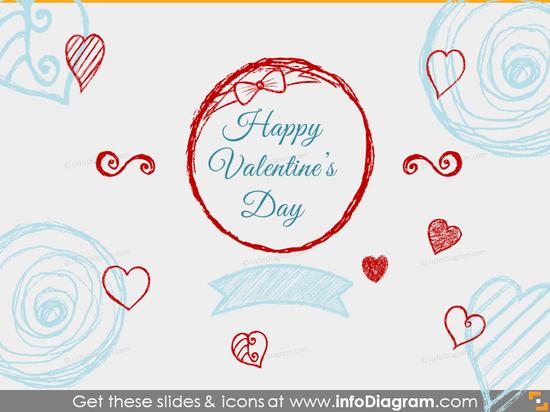 Seasonal Icons - Happy Valentines (PPT clipart)