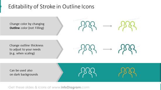Example of editability Stroke Outline Icons