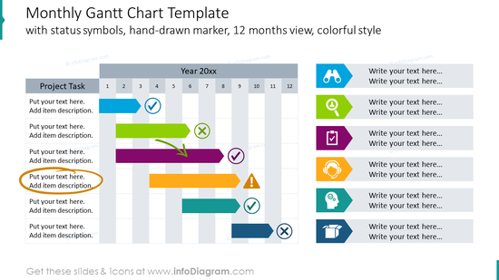 Monthly gantt chart template