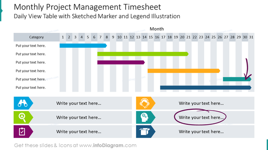 Monthly project management timesheet