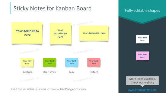 Sticky Notes for Kanban Board