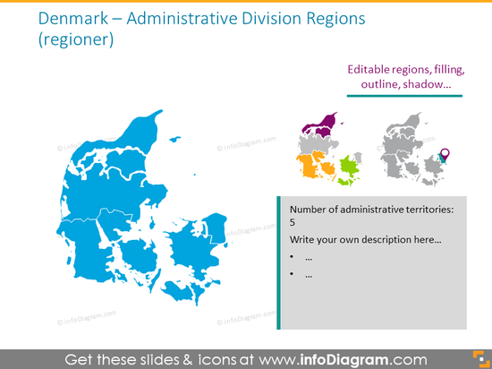 Denmark administrative regions map