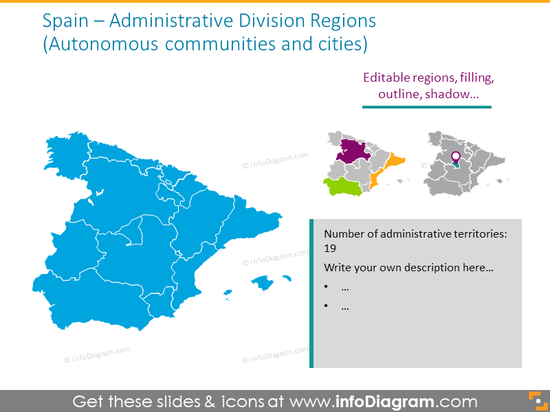 Spain administrative divions map