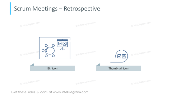 Example of retrospective icons