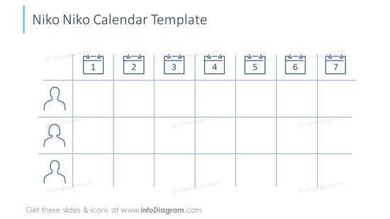 Niko Niko Calendar template slide