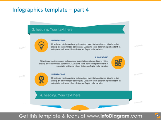 Infographics for Features, Steps or Goals with Description