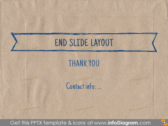 end closing slide layout section brown ecopaper pptx template